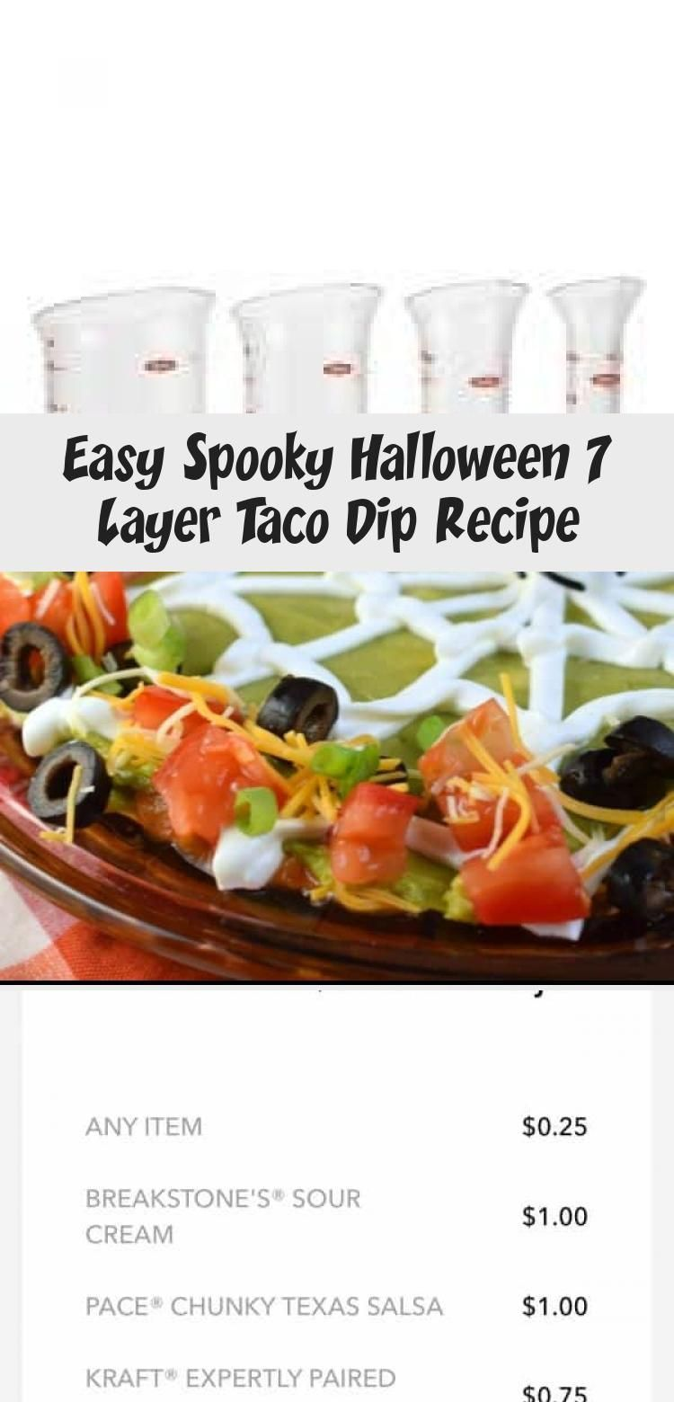 Easy Spooky Halloween 7 Layer Taco Dip Recipe #7layerdip Delicious 7 Layer Taco Dip Recipe all decked out for Halloween. Simple idea, packed with flavor. Skip the web for a #gameday snack! #IbottaPartner #ad #FoodandDrinkHalloween #7layerdip Easy Spooky Halloween 7 Layer Taco Dip Recipe #7layerdip Delicious 7 Layer Taco Dip Recipe all decked out for Halloween. Simple idea, packed with flavor. Skip the web for a #gameday snack! #IbottaPartner #ad #FoodandDrinkHalloween #7layerdip