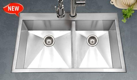 Houzer Sinks - Zero Radius Kitchen Sink - Bellus Series BCD-3322 ...