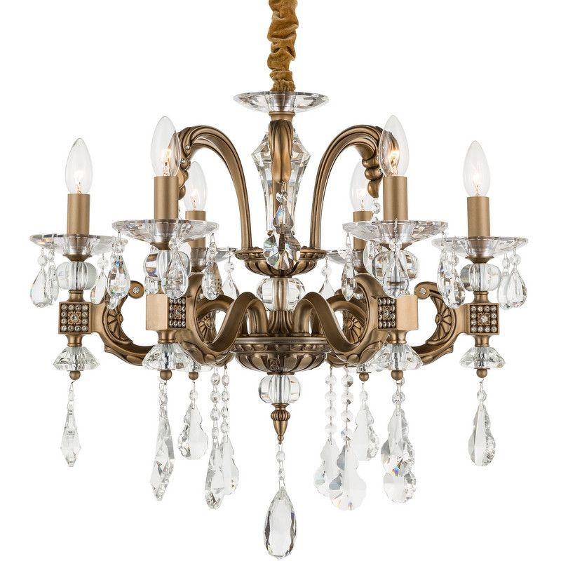 Kronleuchter arthus chrom 9 kerzen klassisch kristall #kerzen ...