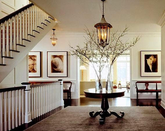 Foyer Lighting Rustic : Elegant branch decor for the non rustic home