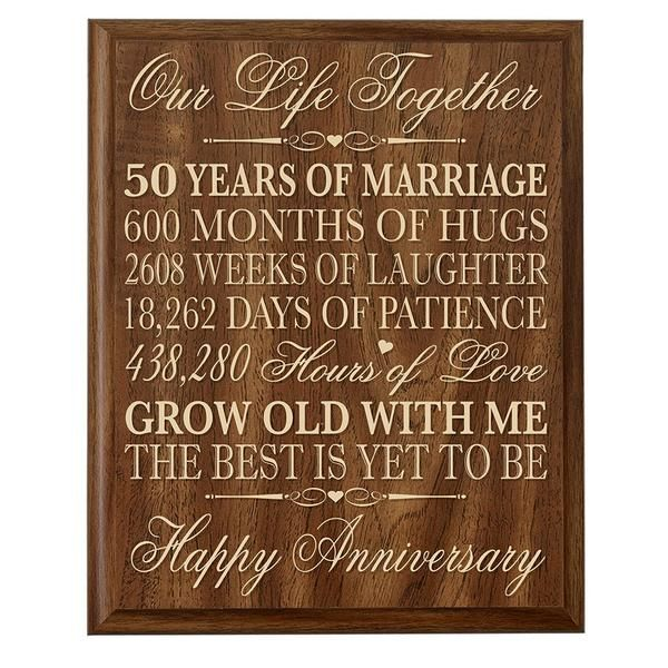 engraved 50 years of marriage 600 months of hugs 2608 weeks of