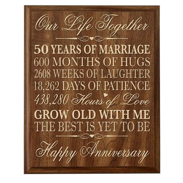 50th Wedding Anniversary Wall Plaque