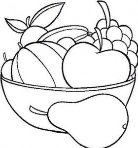 Fruit Basket Coloring Pages owoce wrzywa Pinterest Free