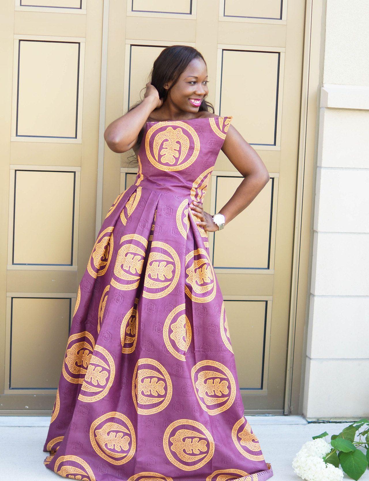 Instagram:theonlyskinnybish (Purple cloth with Adinkra Gye Nyame ...
