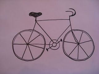 simple steps for elementary kids to draw a bicycle