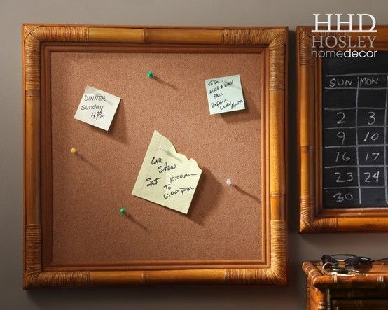 22 Square Memo Board Framed Cork Board Bamboo Frame Memo Board