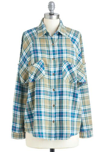 LOVE it. Cute, cozy and comfortable and would look so good with a pair of dark wash skinny jeans.     My Number One Flannel Top, #ModCloth