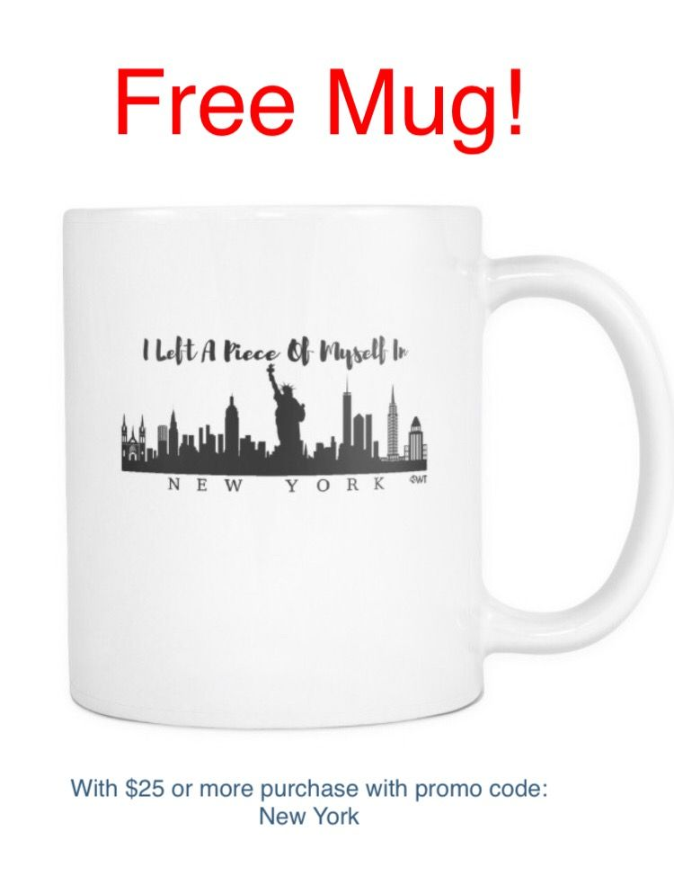 Want a free New York Mug?! We are giving away this cool mug with your purchase of just $25 or more! How cool is that. All you have to do it use the promo code: New York  Hurry! This is only for a limited time!