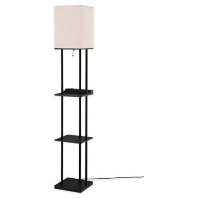 Equip Your Space Charging Station Shelf Lamps With Polycotton Shade Shelf Lamp Floor Lamp Lamp Cord