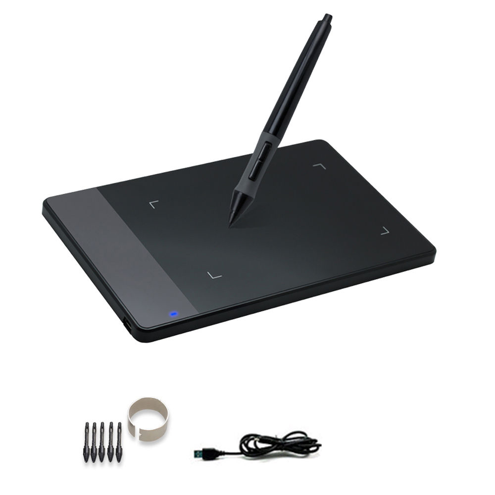Huion 420 Portable Art Graphic Digital Painting Tablet Light Touch Pad Signature Board With Wireless Drawing Pen For Windows Xp Mac Os Black Walmart Com In 2020 Drawing Tablet Art Pad Pen Drawing