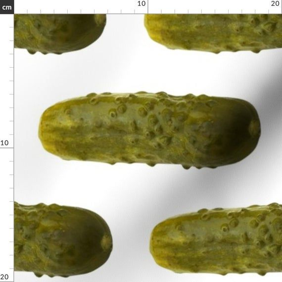 Pickle Fabric - Big Pickles By Sufficiency - Pickle Cotton Fabric By The Metre by Spoonflower