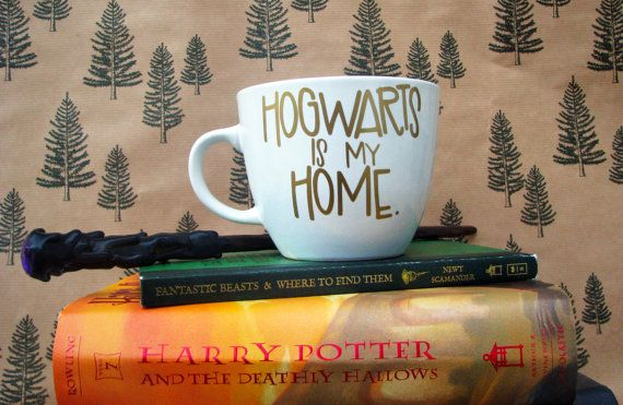 These Harry Potter fall accessories -- including this 'Hogwarts Is My Home' mug -- would make great book gifts for bookworms.