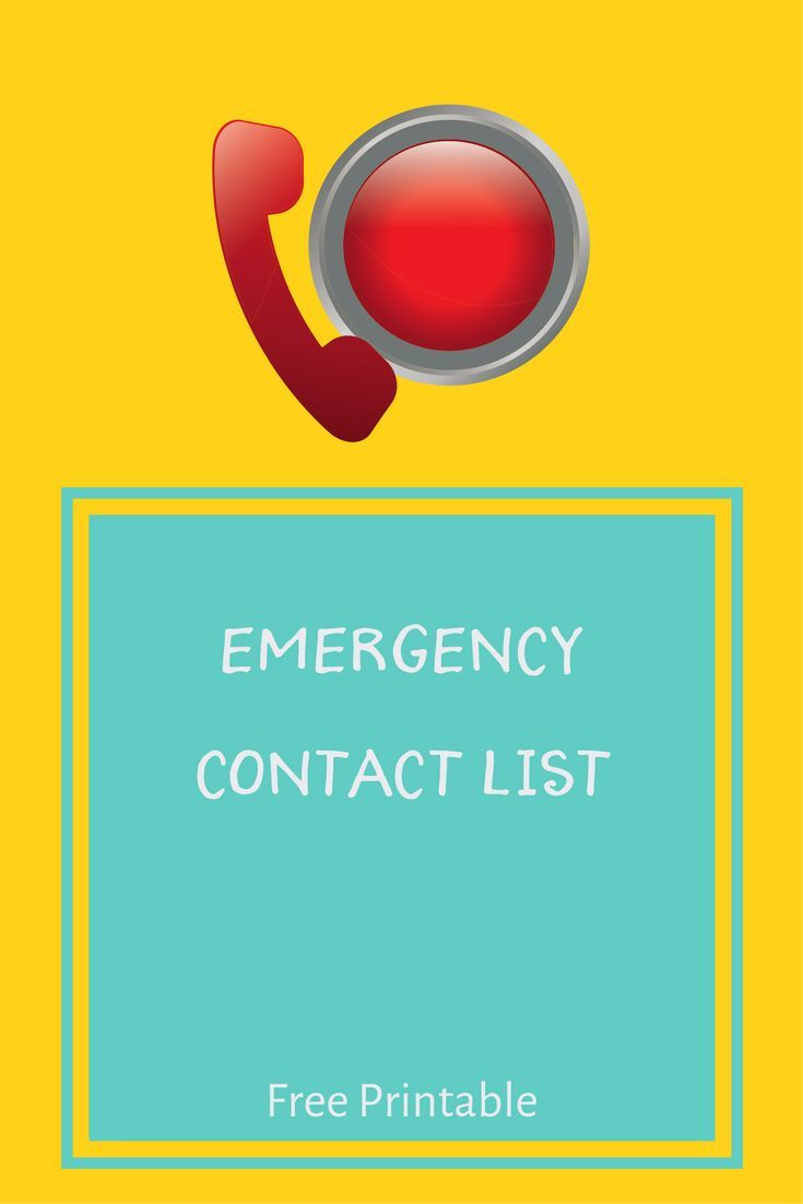 Emergency Contact List With Free Download Or Printable