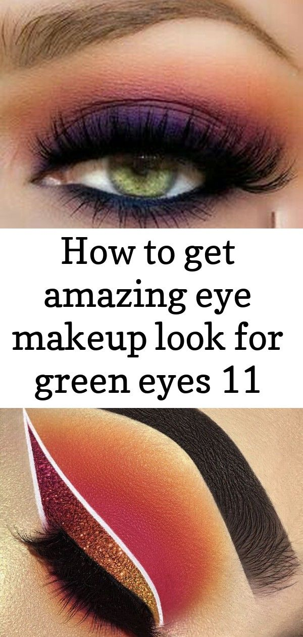 How to get amazing eye makeup look for green eyes 11 #glittereyeliner