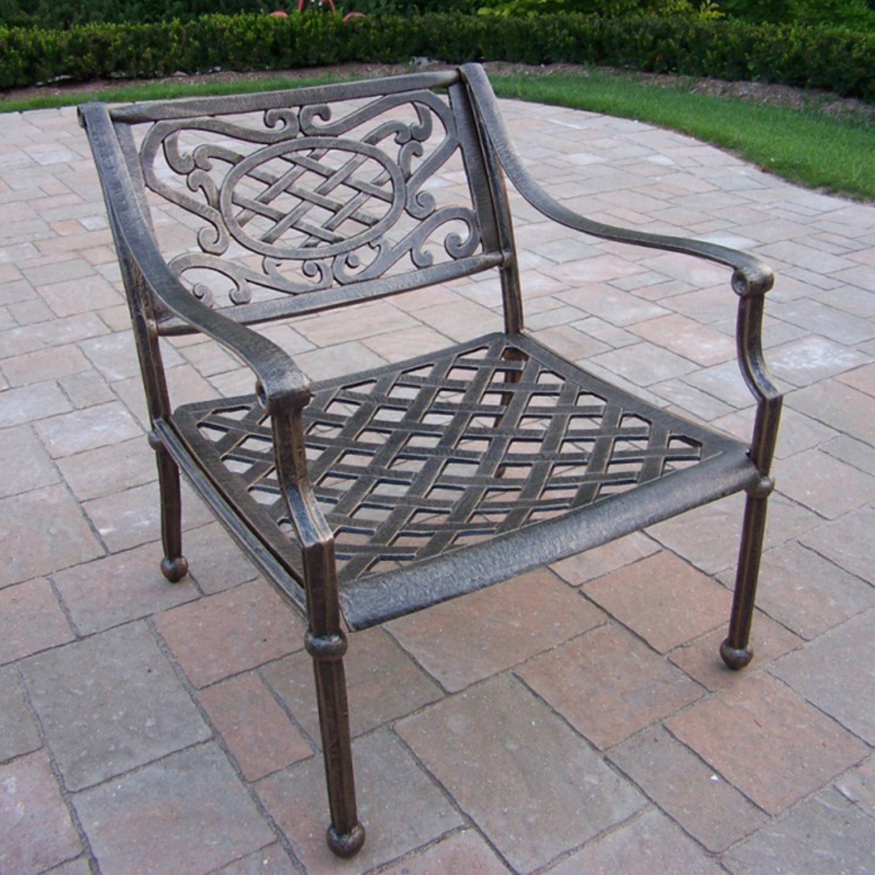 Superior Outdoor Oakland Living Tacoma Cast Aluminum Arm Chair   Antique Bronze    1121 AB
