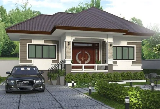 Desain Rumah Atap Limas Dengan 3 Kamar Tidur Desain Rumah Desain Rumah