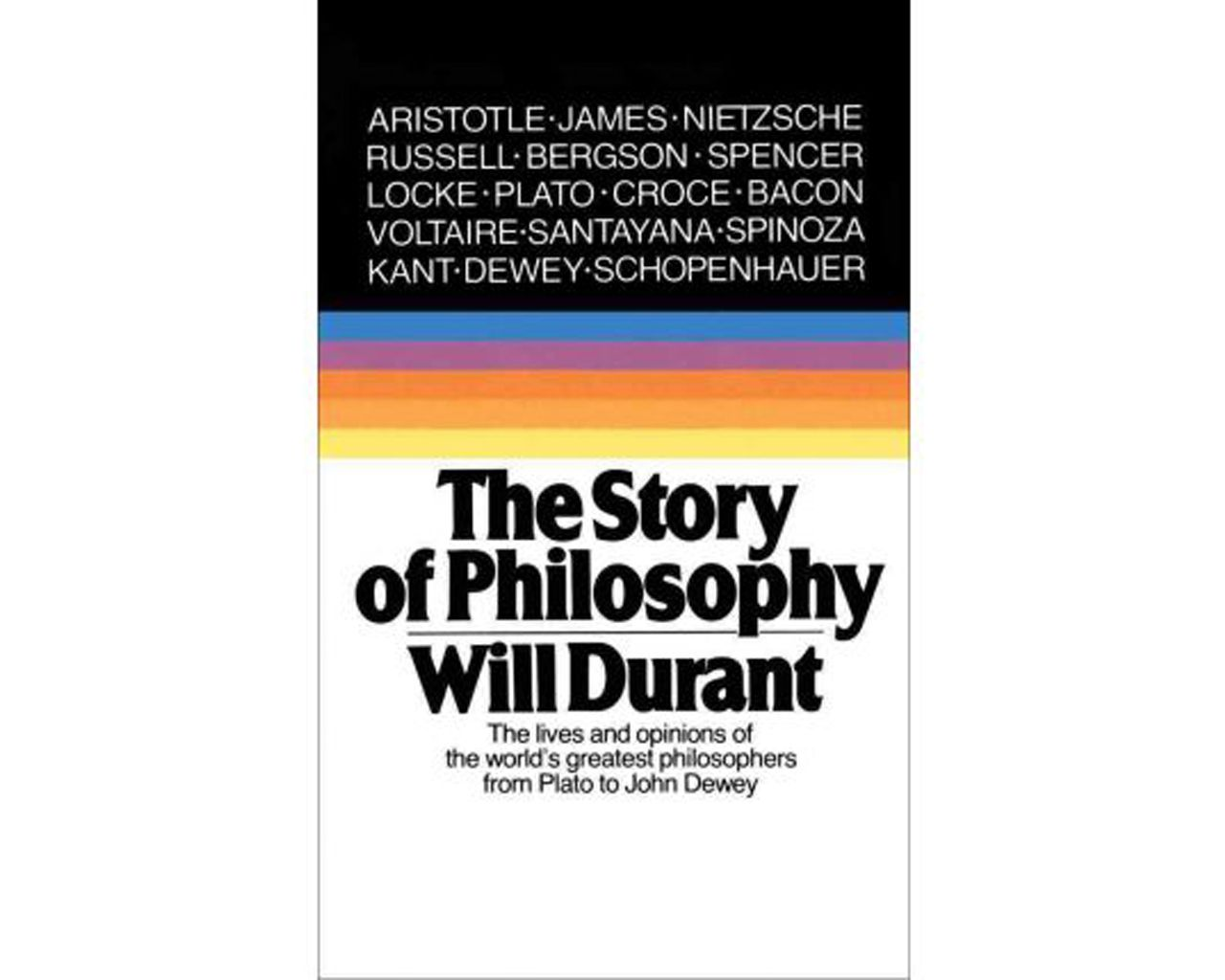 The Story Of Philosophy Will Durant Philosophy Books Philosophy Book Recommendations
