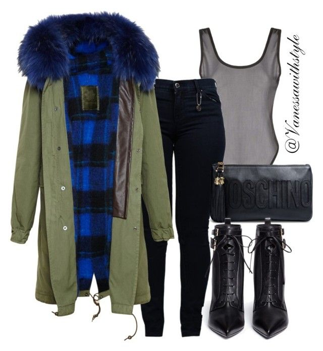 """""""street plaid"""" by itsveeemarie ❤ liked on Polyvore featuring Boohoo, Armani Jeans, Mr & Mrs Italy, Moschino and Sergio Rossi"""
