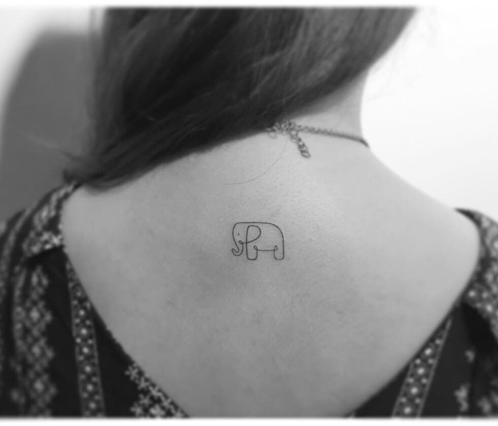Minimal Elephant Tattoos