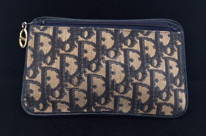 Vintage Christian Dior purse - Toilet bag - bag with logo ... c91c31aa36d68
