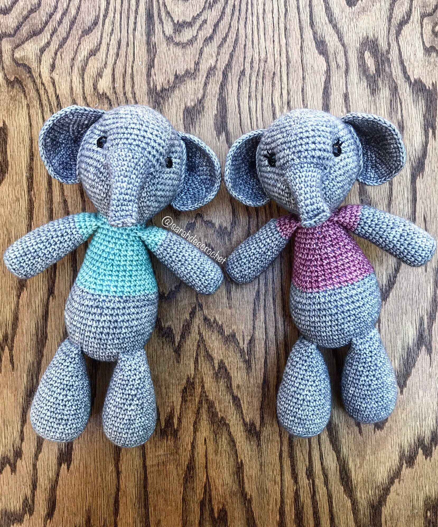 Crochet Baby Comforter, Sleepy Baby Elephant, Security Cuddle ... | 1994x1658