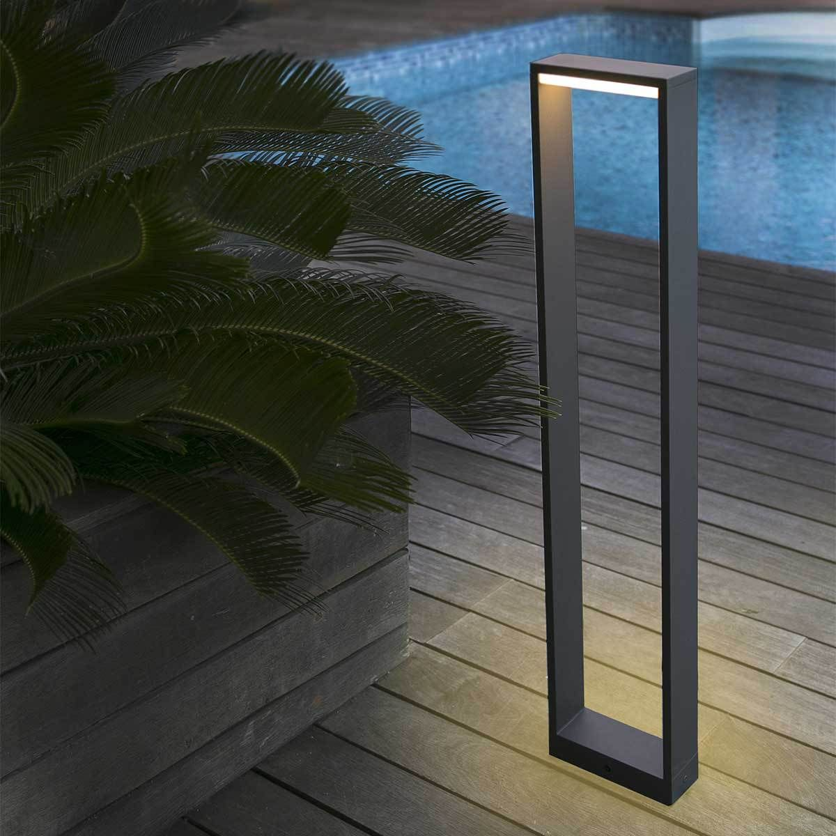 eclairage exterieur potelet. Black Bedroom Furniture Sets. Home Design Ideas