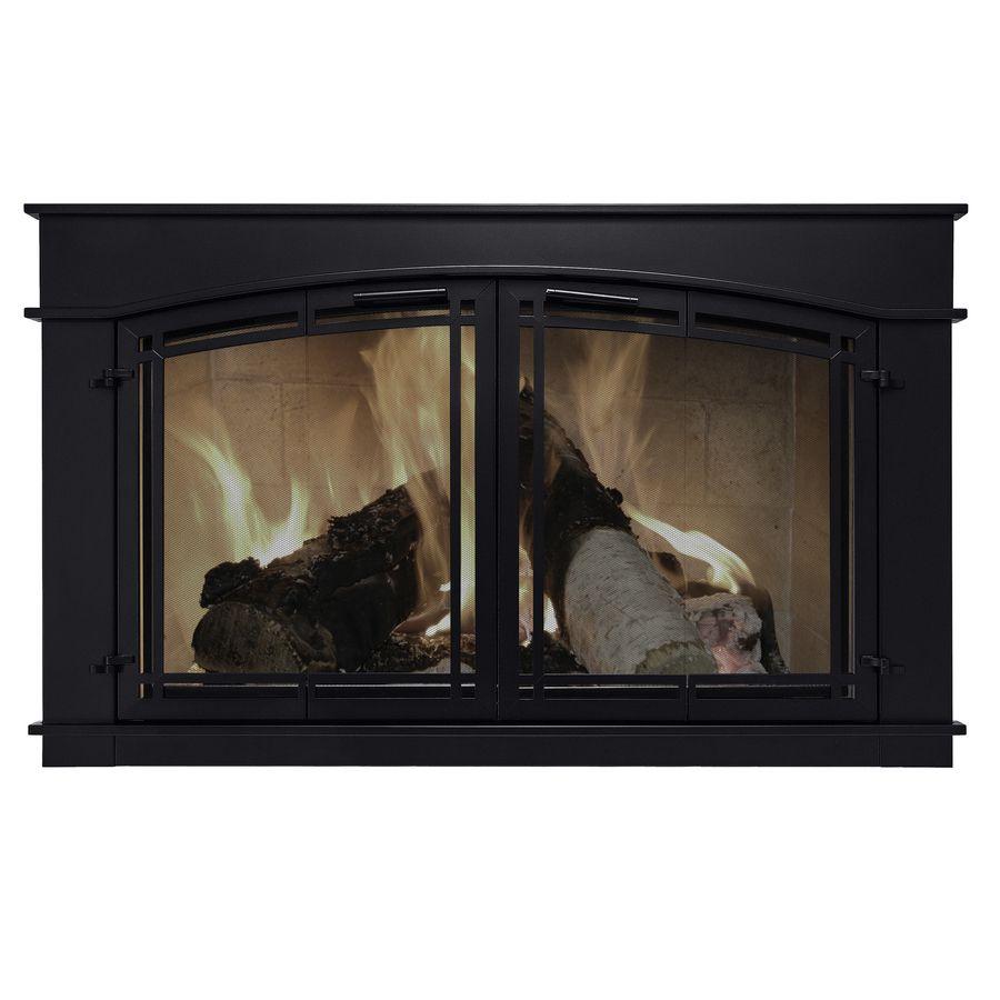 Pleasant Hearth Fieldcrest Black Large Bi Fold Fireplace Doors With