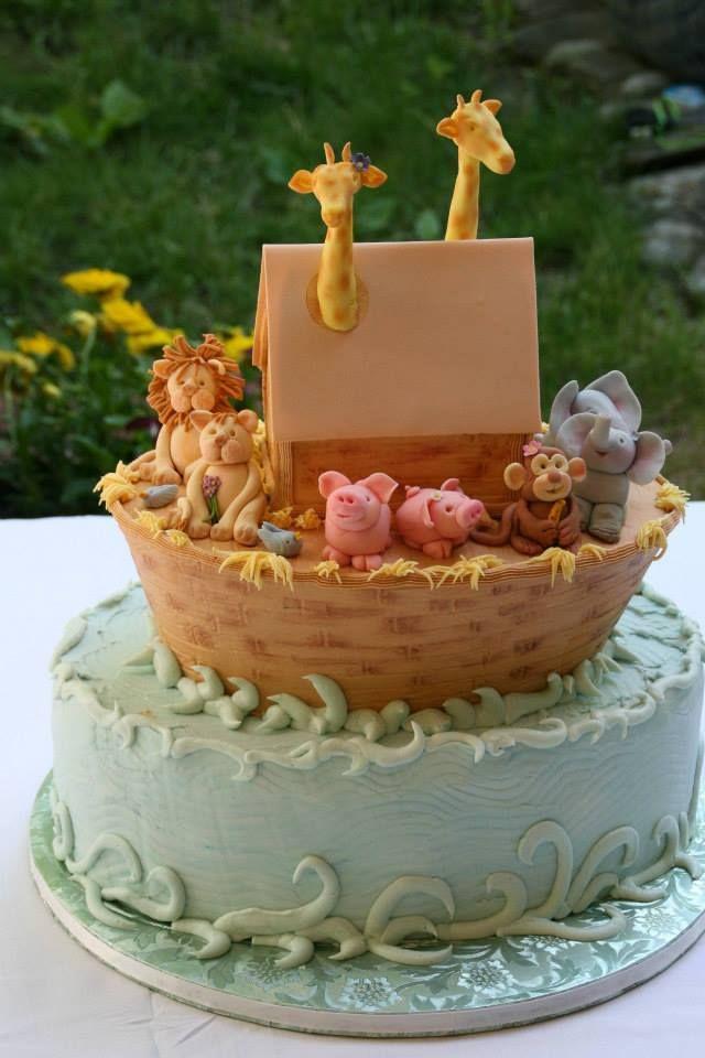 noah's ark theme baby shower cake.  baby showers, Baby shower invitation