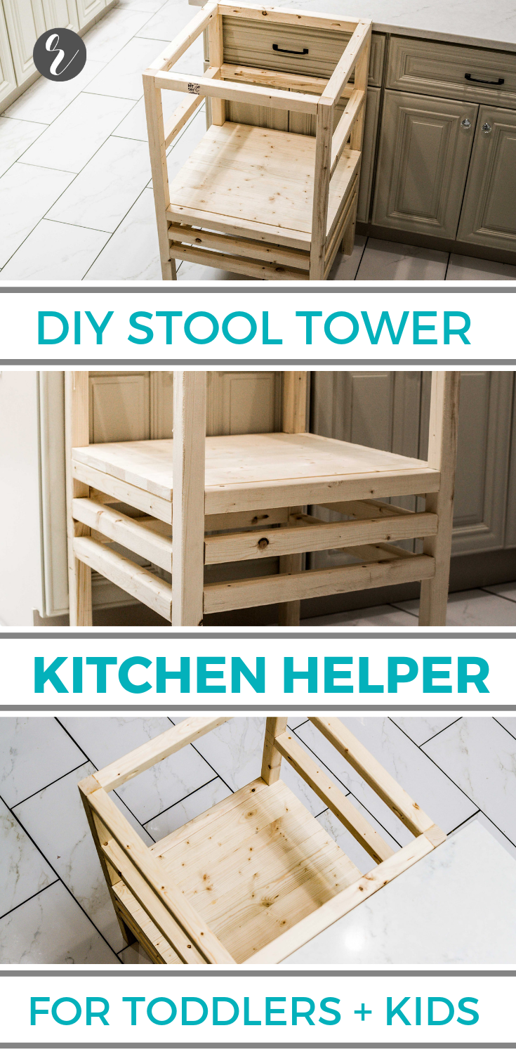 How to Build a DIY Stool Tower Kitchen Helper for Toddlers & Small Children (Plans) - Building Our Rez -   19 diy Wood kids ideas