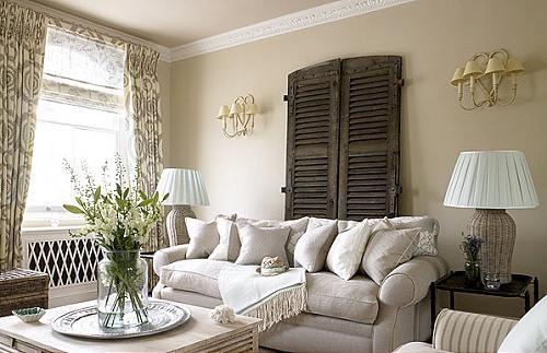 decorar con persianas viejas de madera