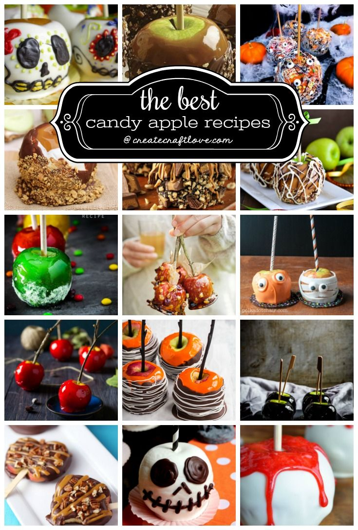 The Best Candy Apple Recipes Apple recipes, Halloween