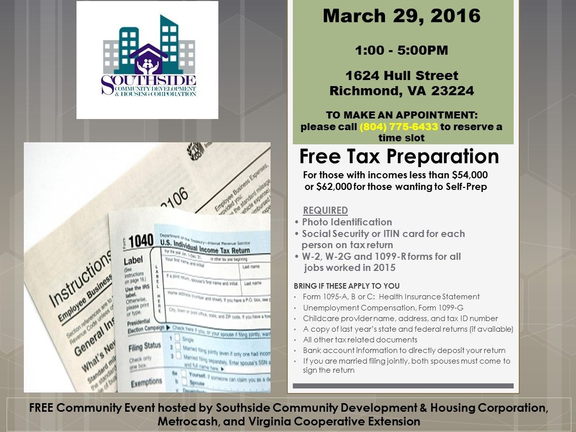 Are You Interested In Attending A Free Tax Preparation Please