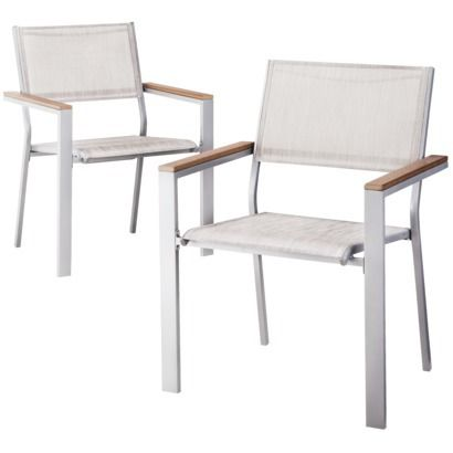 threshold bryant 2piece sling patio dining chair furniture set whiteish not