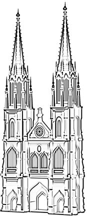 Famous Cathedral In Koln Coloring Page Coloring Pages Cologne Cathedral Gothic Cathedral