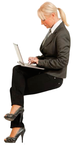 Cutout Woman Sitting Laptop People Png People Cutout Vector Illustration People