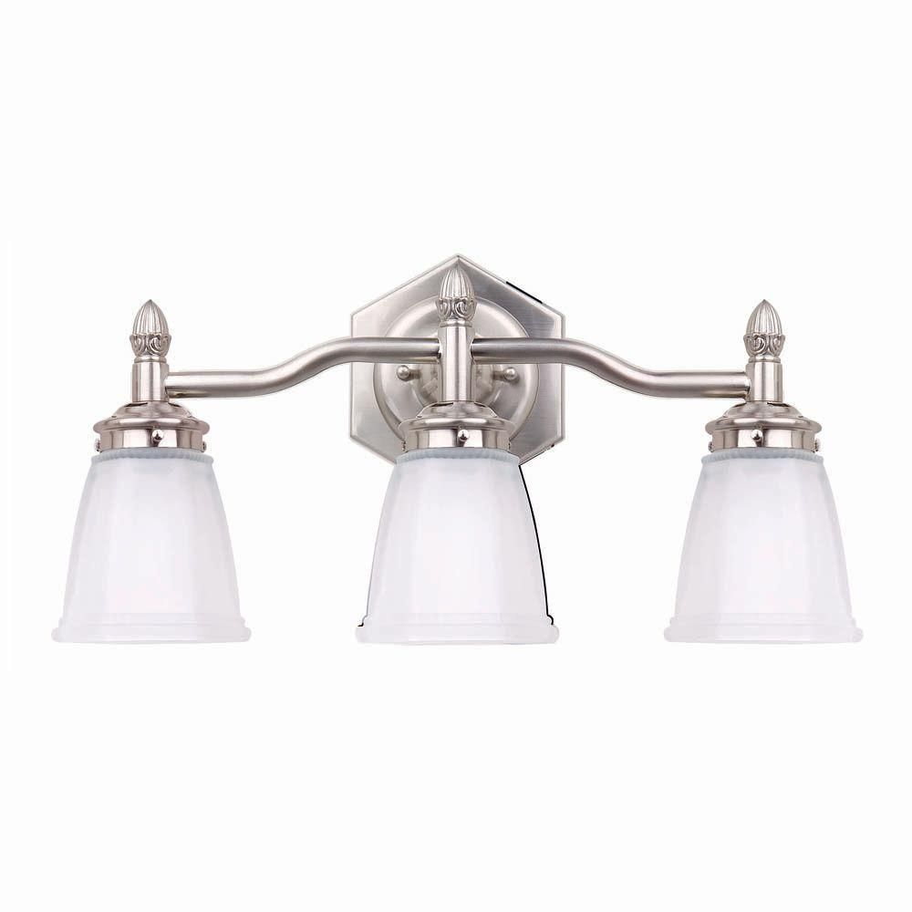 hampton bay 3-light brushed nickel bath light-05930 - the