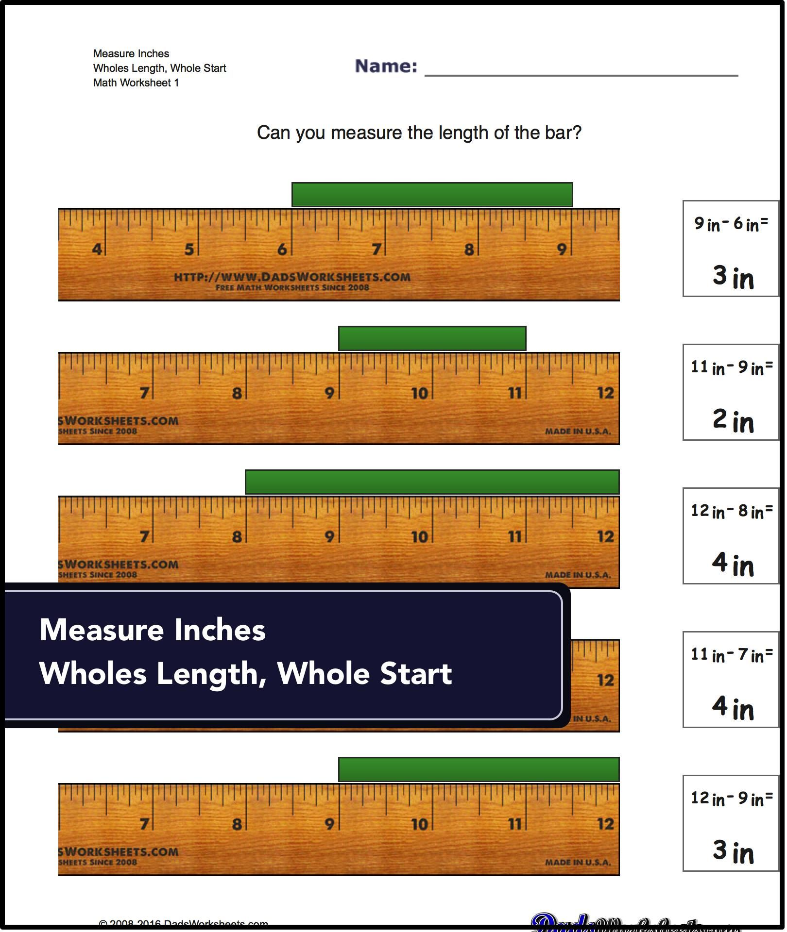 Worksheets For Identifying Specific Points On An Imperial Inch Ruler