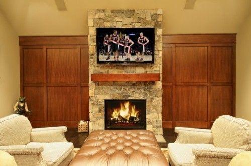 Gentleman's Pub - traditional - media room - portland - Garrison Hullinger Interior Design Inc.