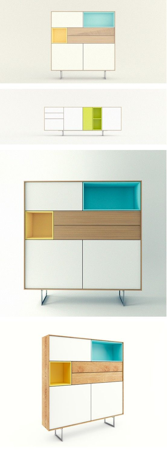 Mistura de cores e design moderno simple furniture for Moderno furniture