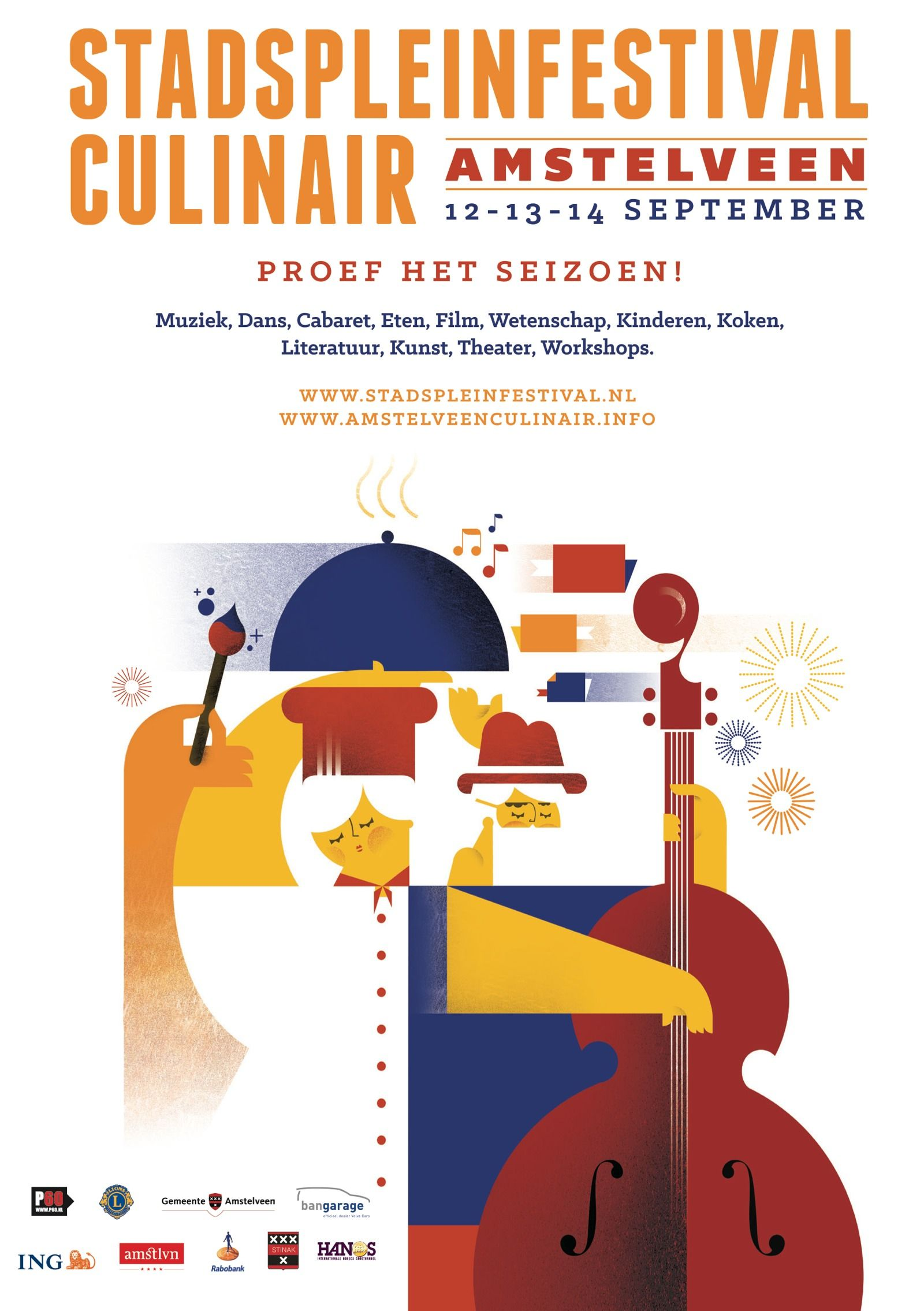 Stadspleinfestival Amstelveen 12 - 13 - 14 september 2014