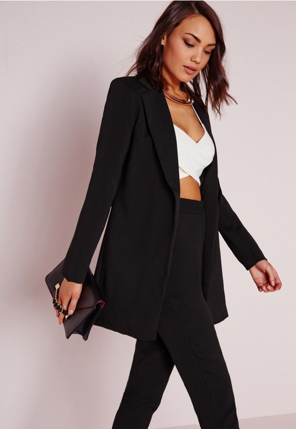 c5a114702 Longline Blazer Black - Coats And Jackets - Blazers - Missguided ...