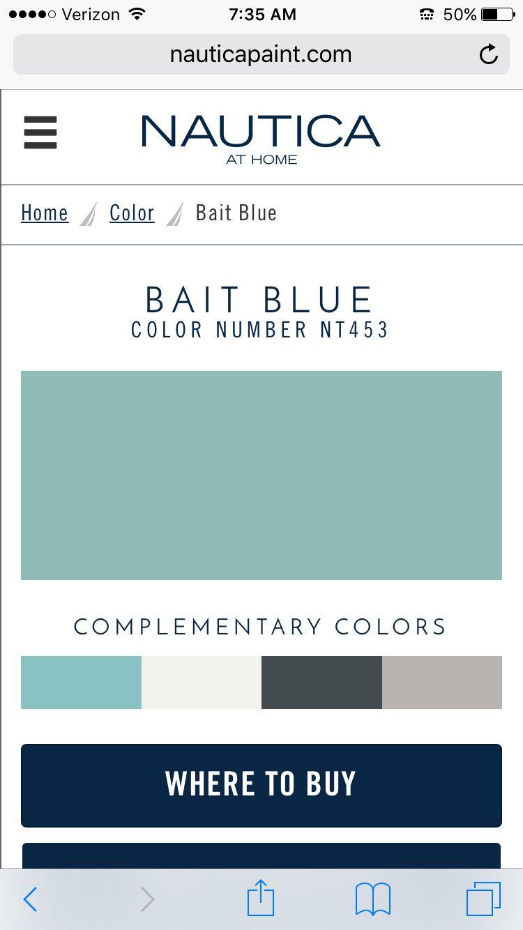 Bait Blue Nautica Paint Downstairs Bath Painting Blackberry