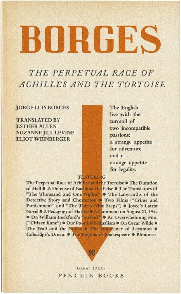 The Perpetual Race of Achilles and the Tortoise by Jorge Luis Borges; design by We Made This (Penguin August 2010)
