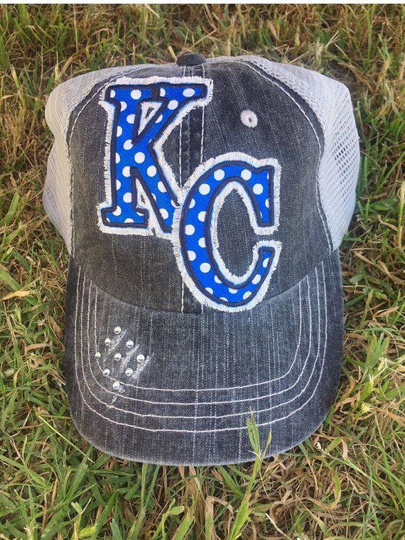 dcd5247ed2a16 Kansas City Royals Missouri Baseball Bling Ladies Womens Trucker Hat by  Chasing Elly on Etsy