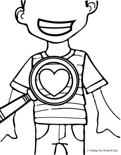 God Searches Our Hearts Coloring Page Crafting The Word Of God