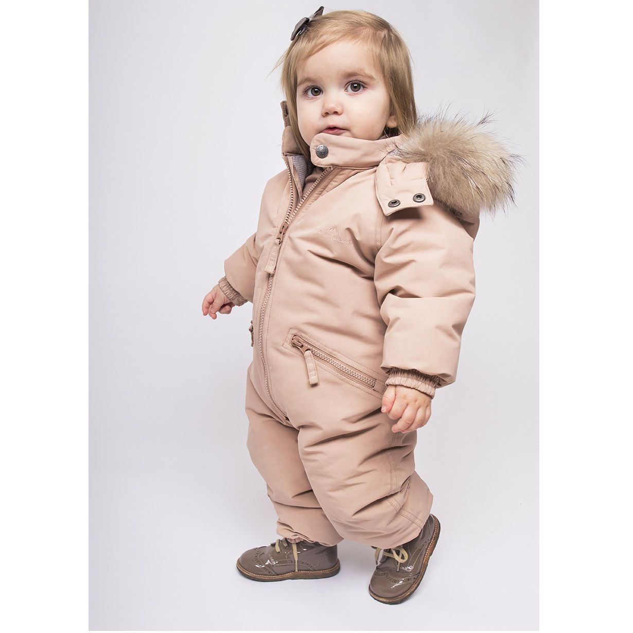 376a6ffbe Ver de Terre mahogany rose snowsuit with fur - online august 2017 ...