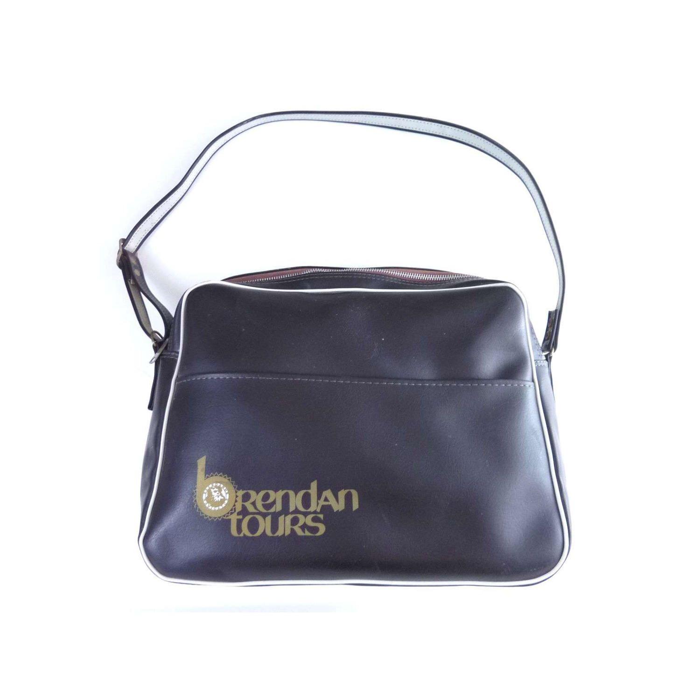 Vintage Brendan Tours Ireland Black Faux Leather Travel Bag ...