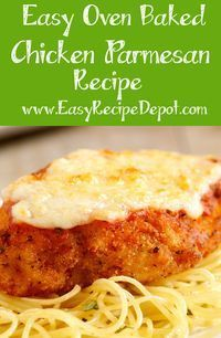 Easy Oven Baked Chicken Parmesan images