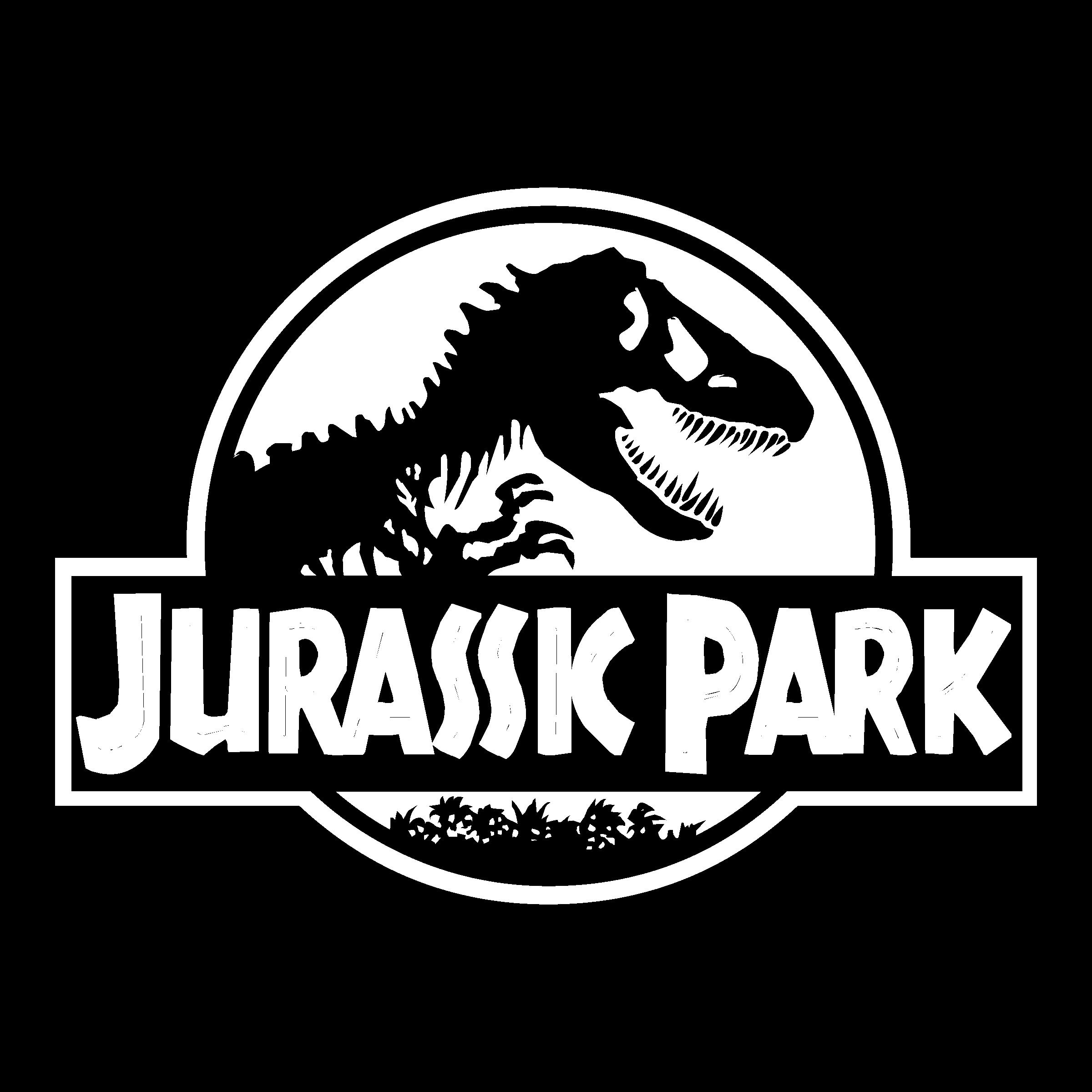 Jurassic Park Logo Black And White