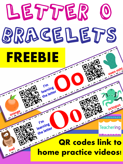 Free Letter O Homework With Qr Codes Preschoolers